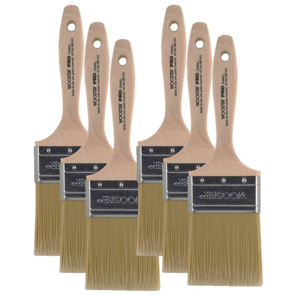 3 in. Chinex Flat Brush (6-Pack)