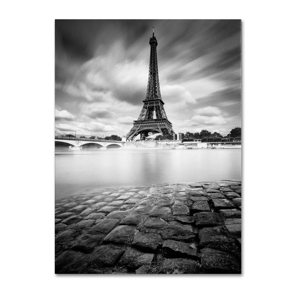 24 in. x 16 in. Eiffel Tower Study I Canvas Art
