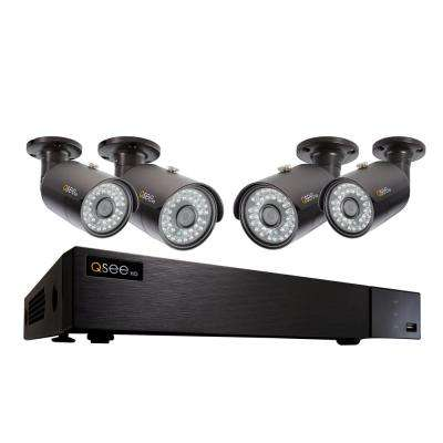 8-Channel 4MP 1TB HeritageHD DVR Surveillance System with 4 4MP Bullet Cams
