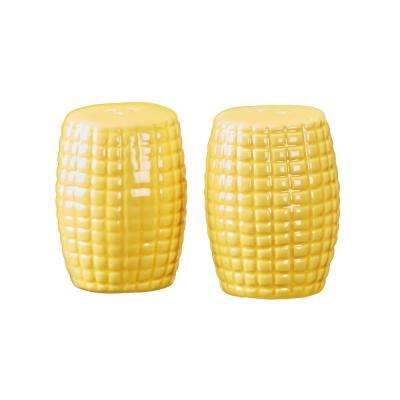 Season Corn 2.5 oz. Yellow Ceramic Salt and Pepper Shakers with Figural Shapes