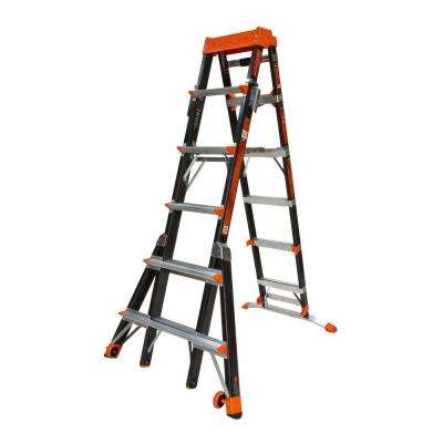 Select Step 10 ft. Fiberglass Multi-Use Ladder with 375 lb. Load Capacity Type IAA Duty Rating