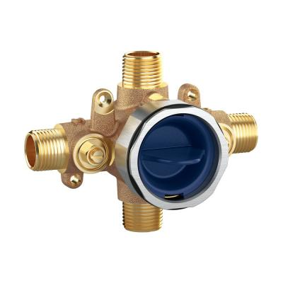 GrohSafe 3.0 1/2 in. Universal Inlets/Outlets Pressure Balance Rough-In Valve with Service Stops
