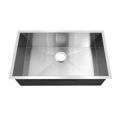 Hardy Undermount Stainless Steel 20 in. Single Bowl Kitchen Sink