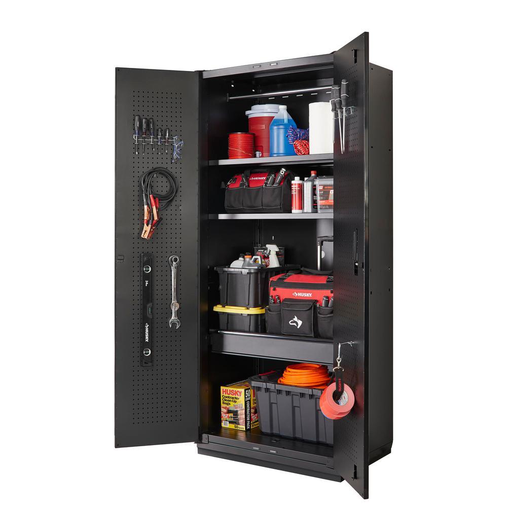 Husky Heavy Duty Welded 20 Gauge Steel, Garage Storage Wall Cabinets Home Depot