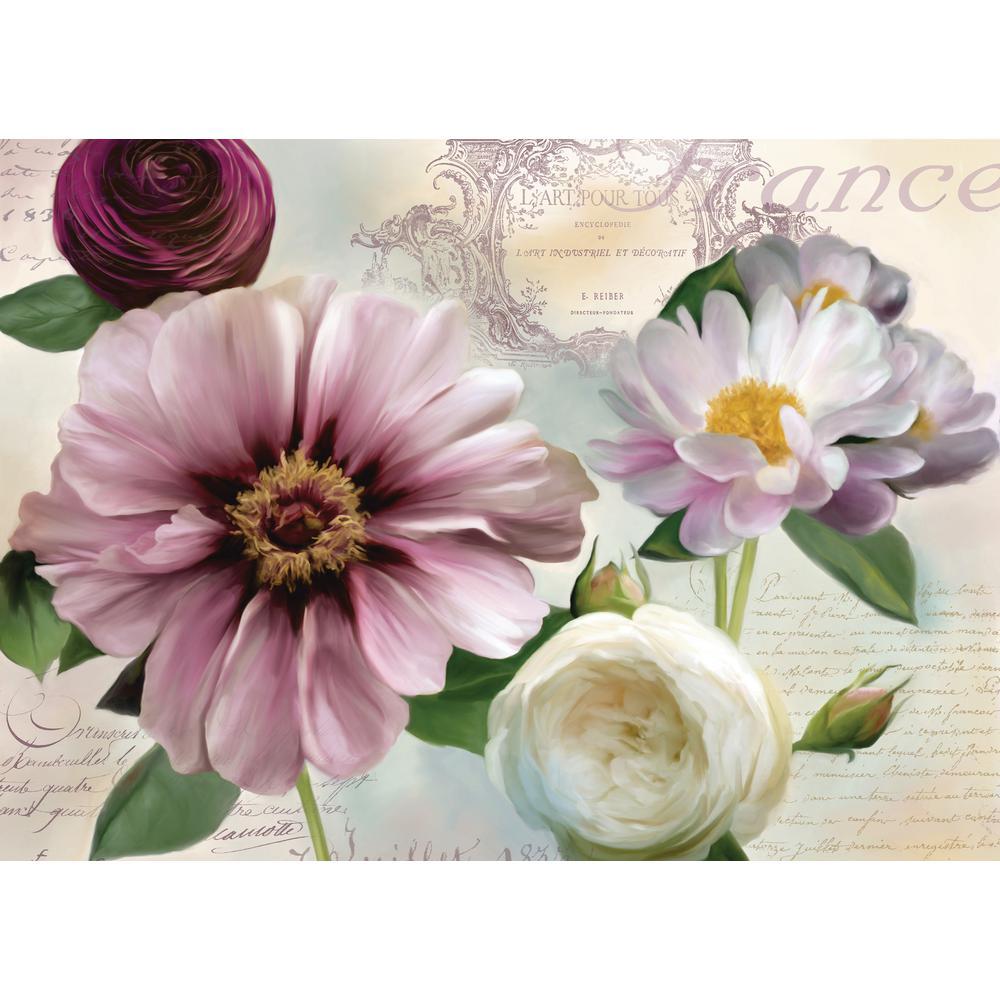 MorganHome Morgan Home Purple Floral Placemat Set (4-Pack)