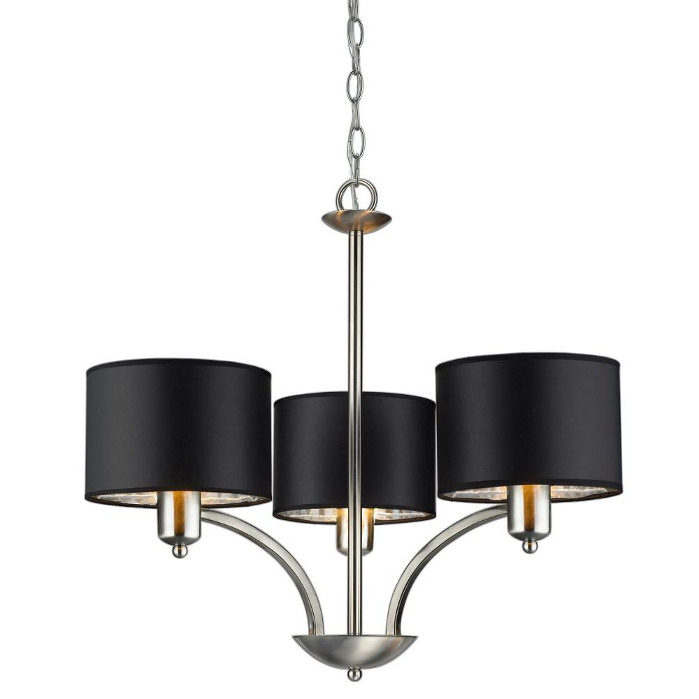 Hampton bay murray 3 light brushed nickel chandelier es1576sba the hampton bay murray 3 light brushed nickel chandelier arubaitofo Gallery