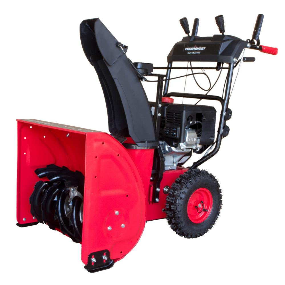 Menards Snow Blowers >> Powersmart 24 In 212 Cc Two Stage Electric Start Gas Snow Blower