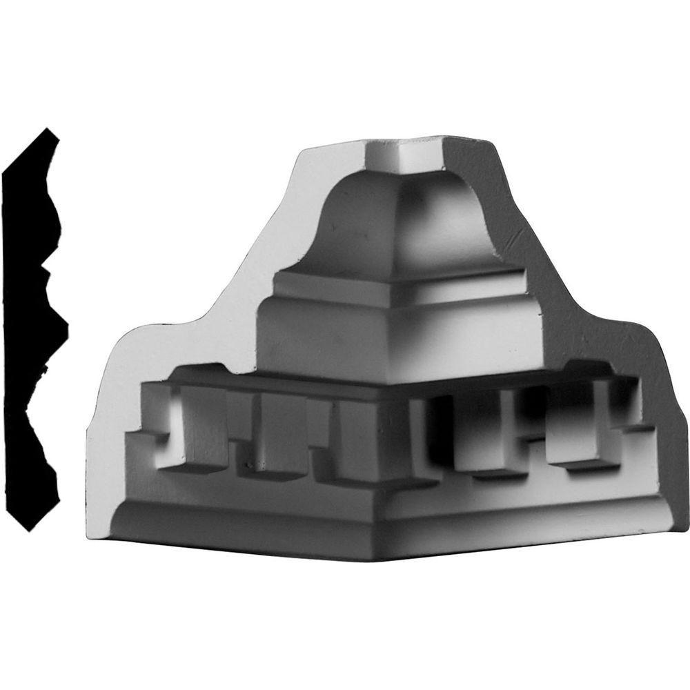 3-3/8 in. x 3-3/8 in. x 3-3/8 in. Polyurethane Crown Inside Corner Moulding