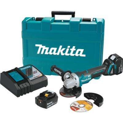 18-Volt LXT Lithium-Ion Brushless Cordless 4-1/2 in. Paddle Switch Cut-Off/Angle Grinder Kit