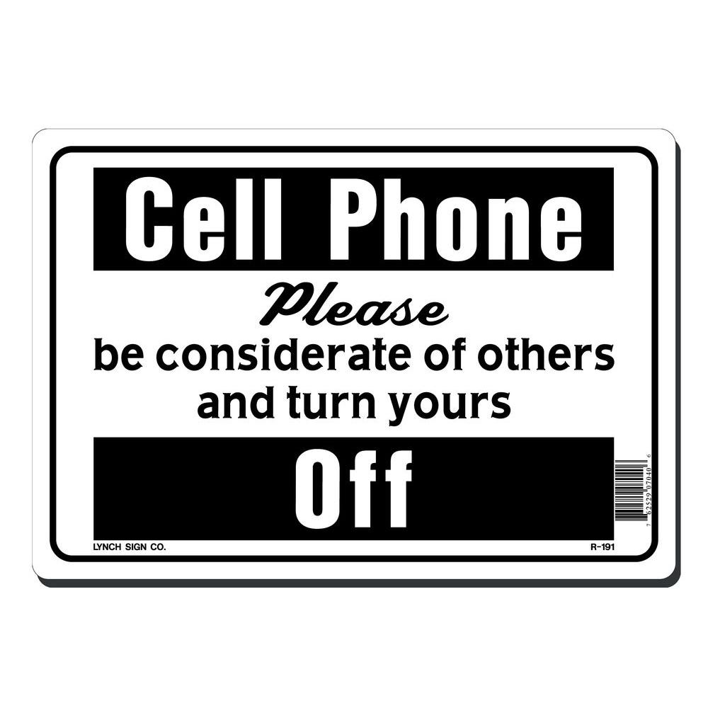 lynch sign 10 in  x 7 in  cell phone please turn yours off