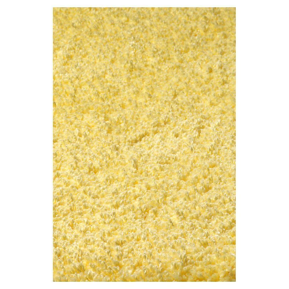 Cushy Shag Yellow 2 ft. 3 in. x 3 ft. 9 in. Area Rug