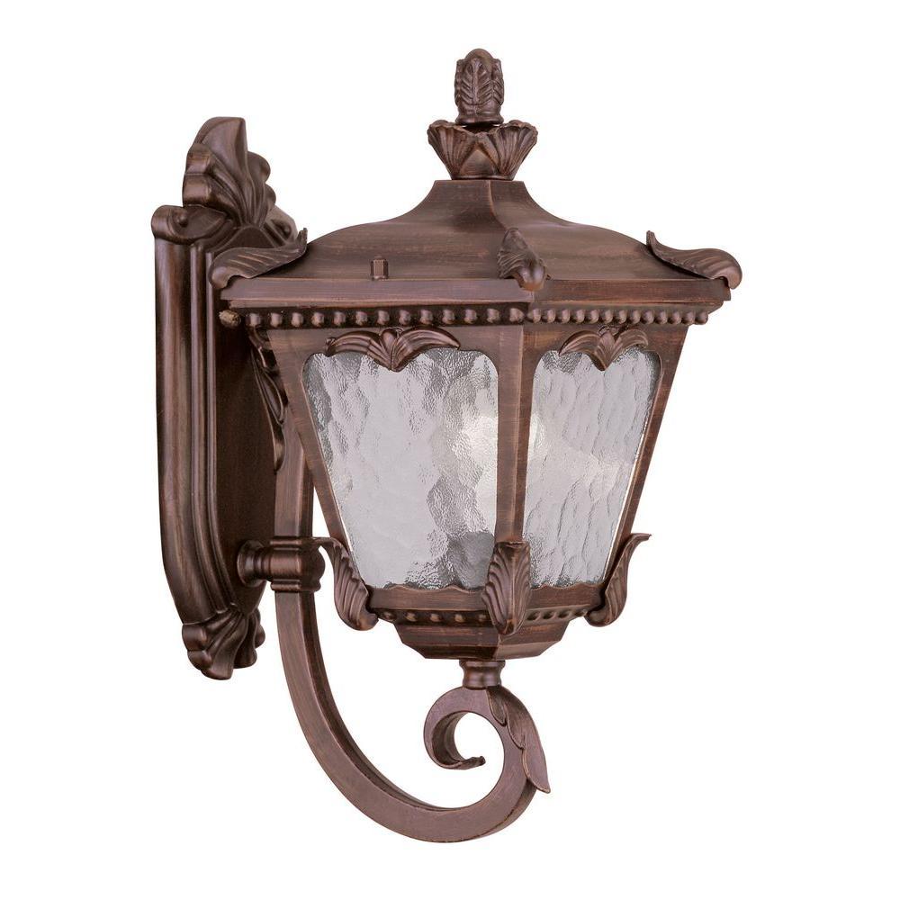 Livex Lighting Providence Wall-Mount 1-Light Outdoor Imperial Bronze Incandescent Lantern