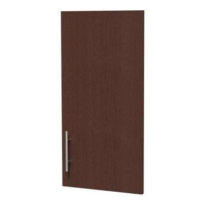 0.75 in. D x 15 in. W x 30 in. H Horizon Door Kit for Utility Wall Cabinet Melamine Closet System with Handle in Mocha