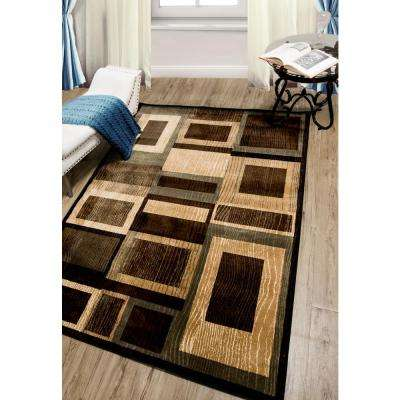 Bazaar Gal Black/Brown 5 ft. x 7 ft. Indoor Area Rug