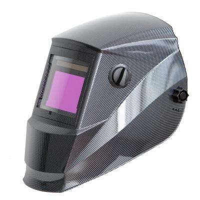 Solar Power Auto Darkening Welding Helmet with Large Viewing Size 3.78 in. x 2.5 in. Great for MMA, MIG, TIG
