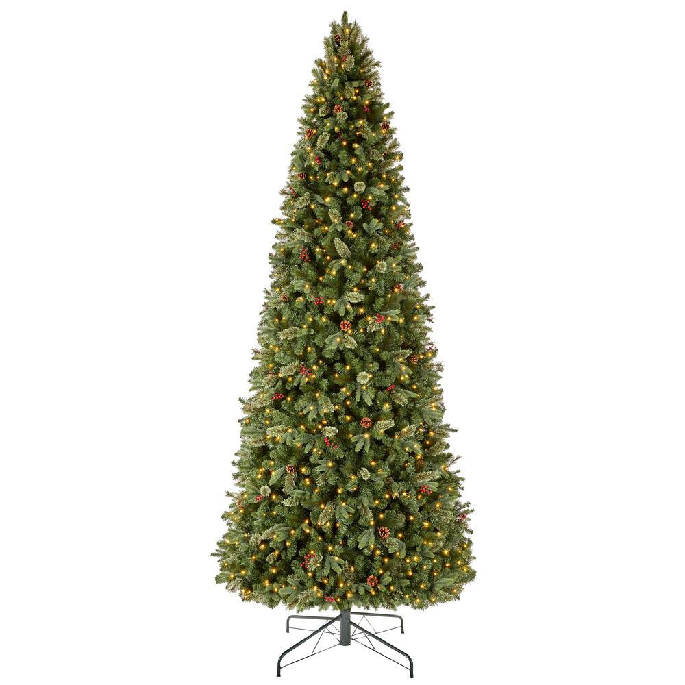 Home Accents Holiday 12 ft Westwood White Fir LED Pre-Lit ...