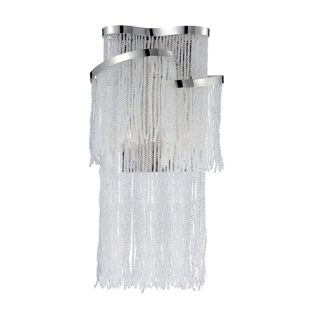 Ellena Collection 2-Light Nickel Wall Sconce