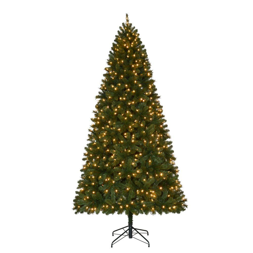 Pre Lit Led Lights Christmas Tree: Home Accents Holiday 9 Ft. Pre-Lit LED Wesley Spruce Quick