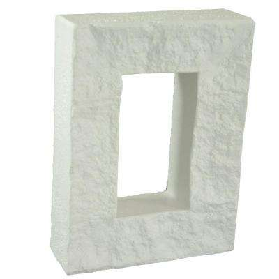 Dove White 7-7/8 in. x 6 in. x 1-7/8 in. Faux Outlet Cover