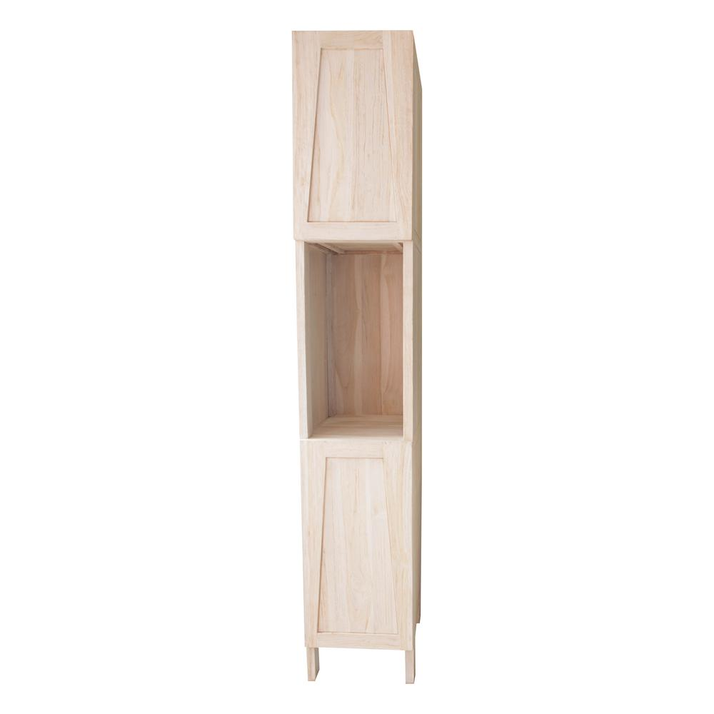 EcoDecors Significado 14 in. L x 17 in. W x 79 in. H Solid Teak Linen Closet in Driftwood