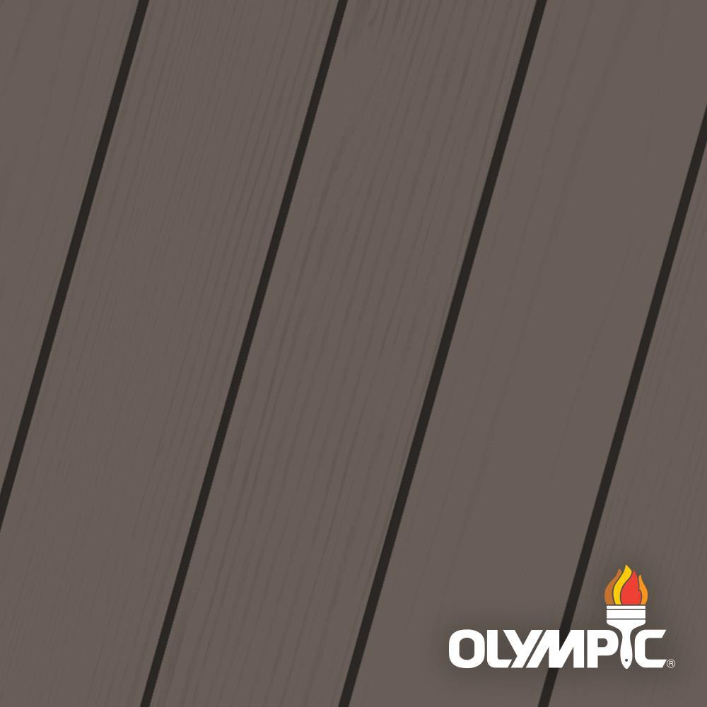 Olympic Maximum 5 gal. Oxford Brown Solid Color Exterior Stain and Sealant in One