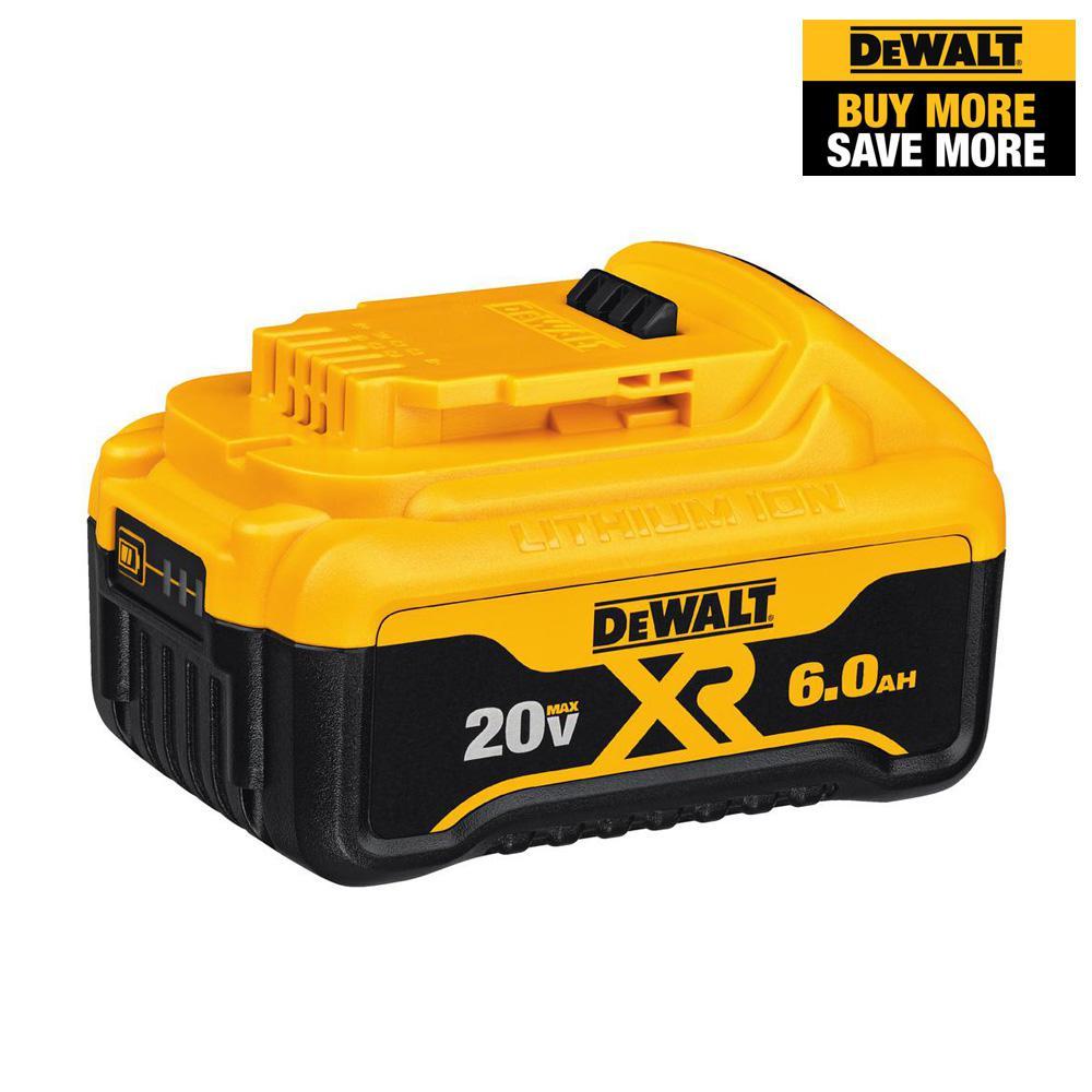 20-Volt MAX XR Premium Lithium-Ion (1) 6.0Ah Battery
