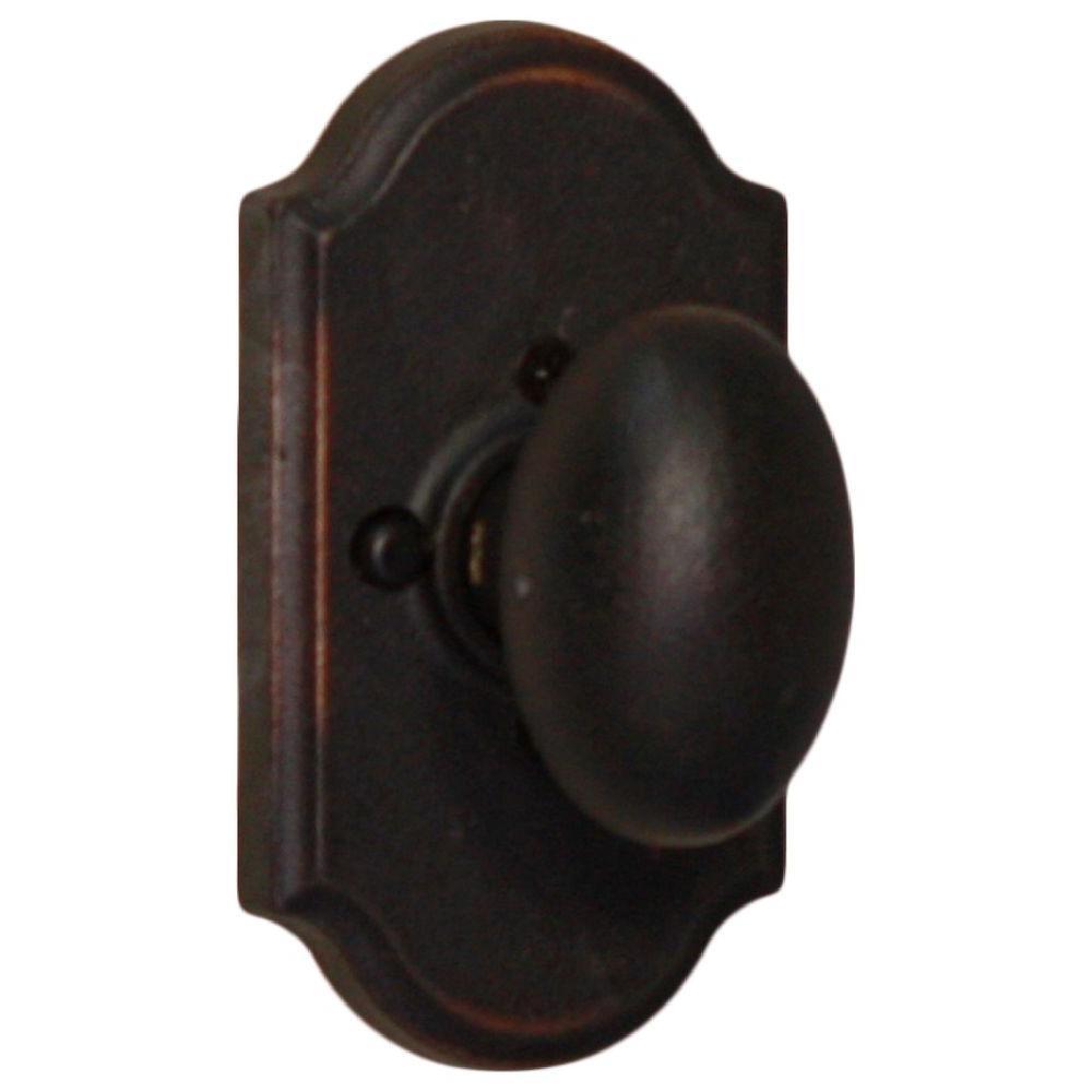 Weslock Molten Bronze Oil Rubbed Bronze Premiere Privacy Bed/Bath Durham Door  Knob