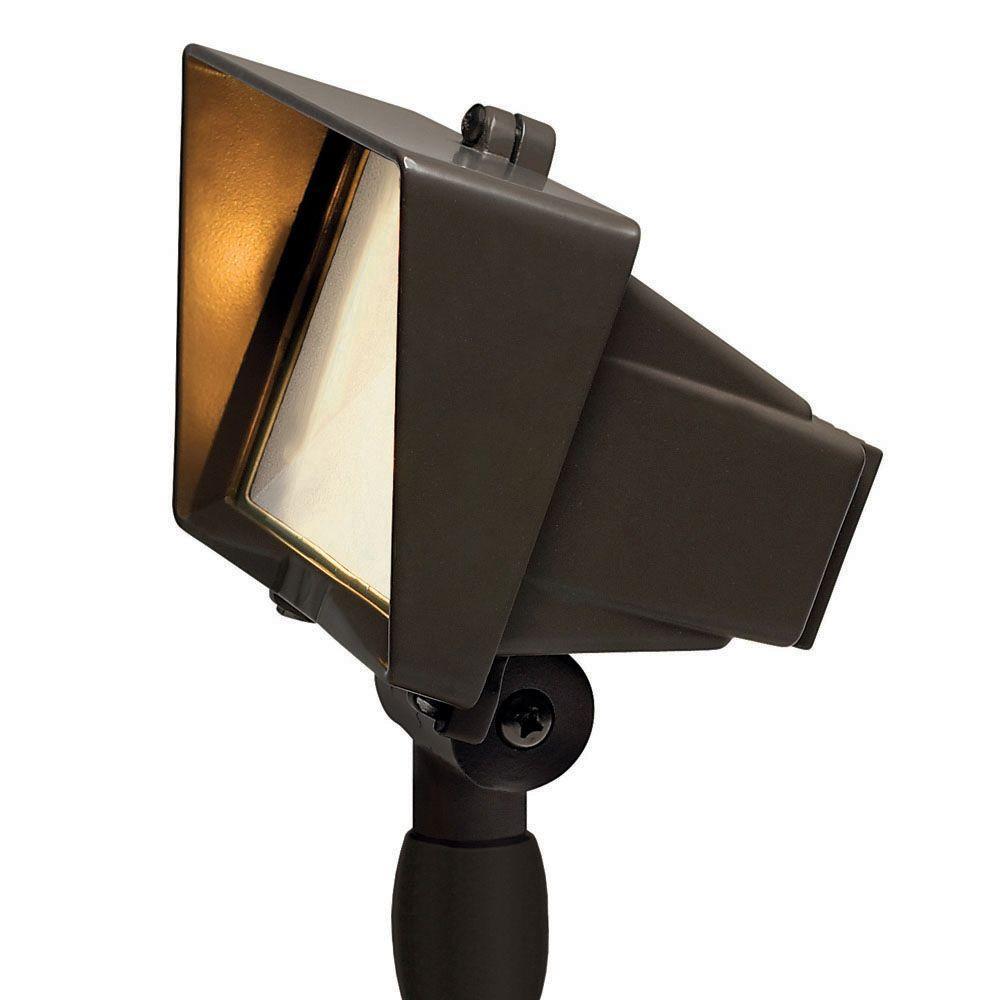 Hinkley Lighting Low-Voltage 50-Watt Bronze Outdoor Flood Light