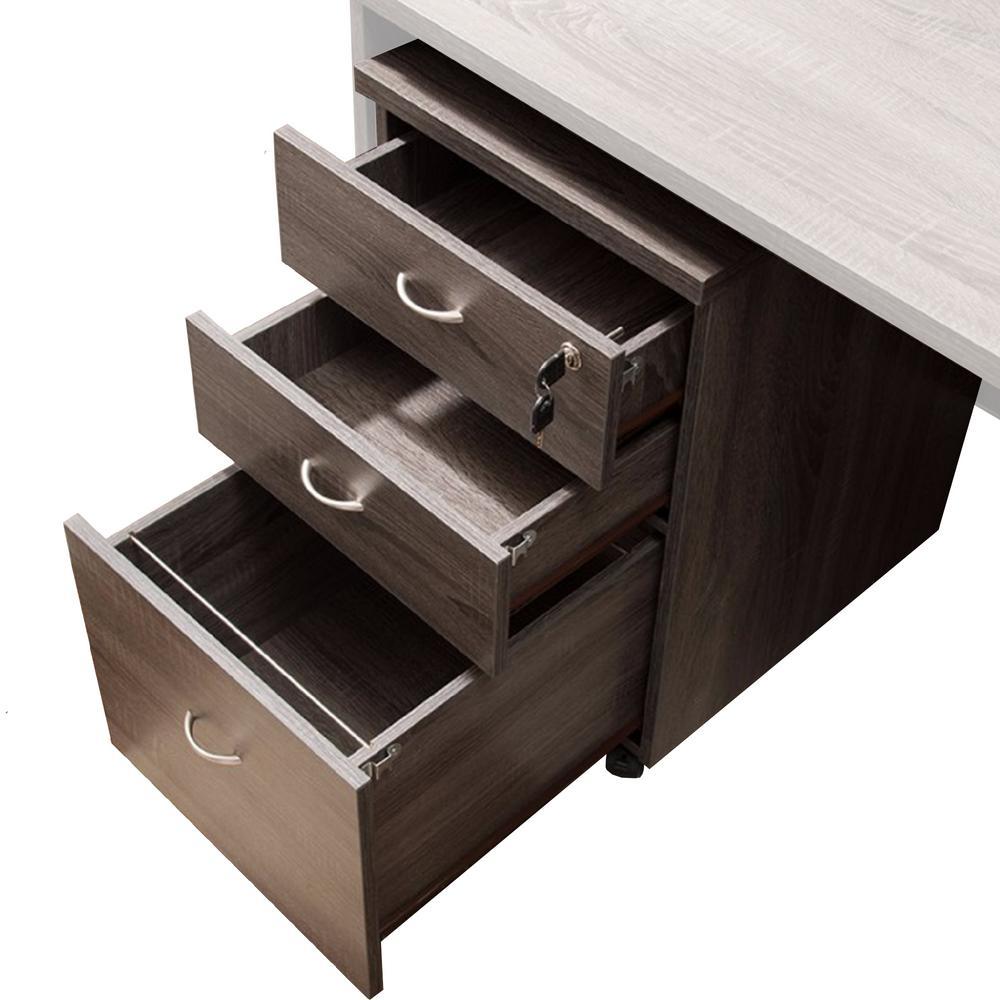 Brown Wide Storage Mobile File Cabinet