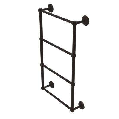 Monte Carlo Collection 4-Tier 30 in. Ladder Towel Bar with Groovy Detail in Oil Rubbed Bronze