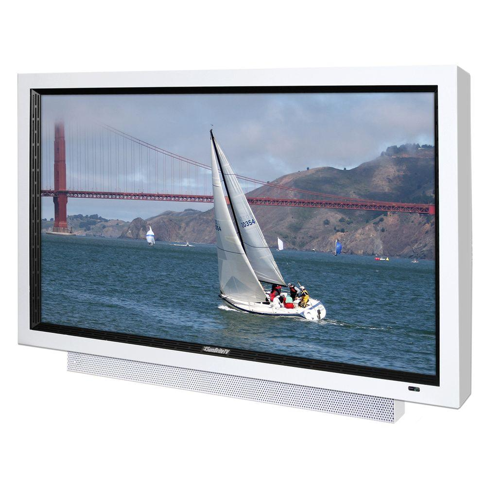 SunBriteTV Pro Series Weatherproof 46 in. Class LCD 1080P 60Hz Outdoor HDTV - White-DISCONTINUED