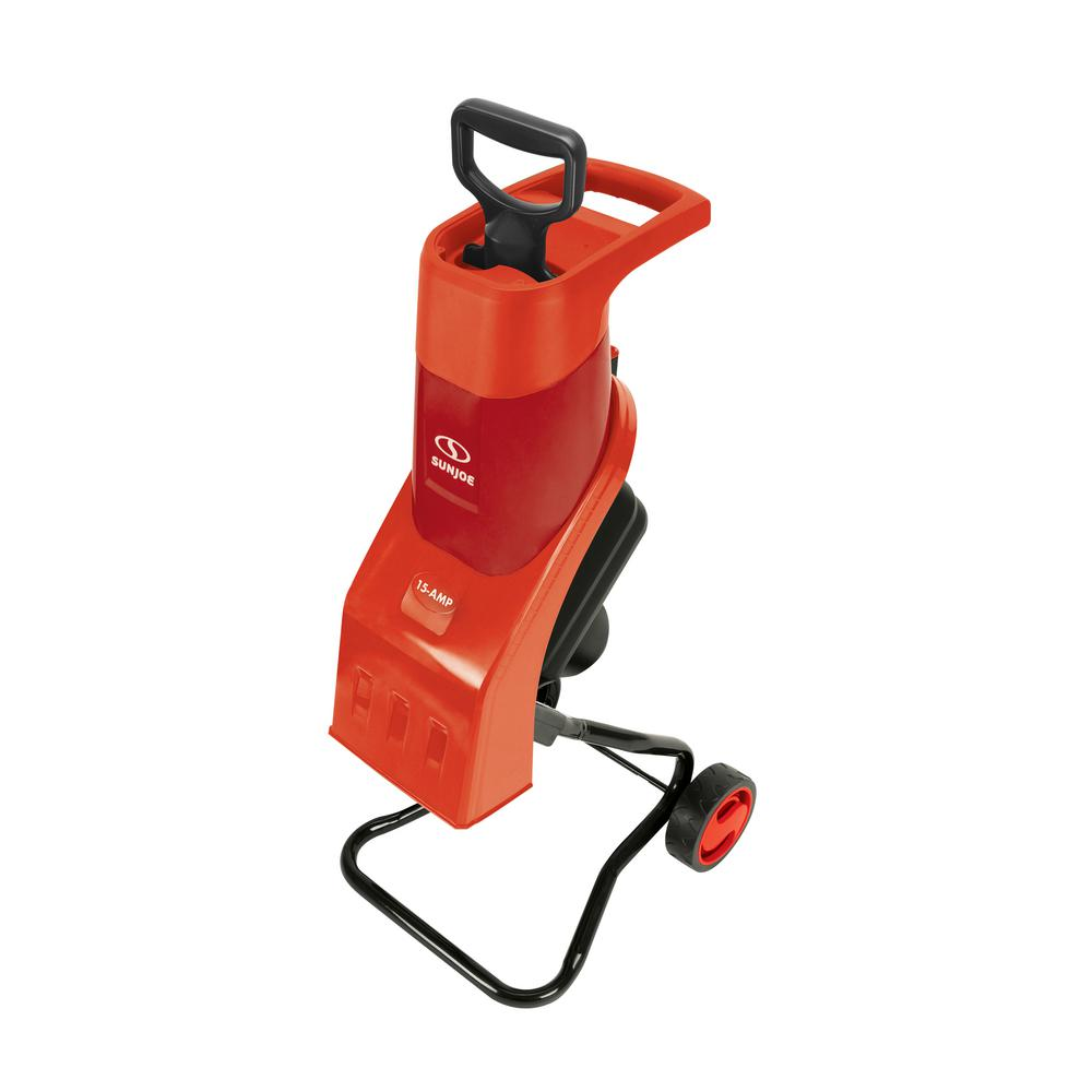 Sun Joe 1.5 in. 15 Amp Electric Wood Chipper/Shredder-CJ602E-RED ...