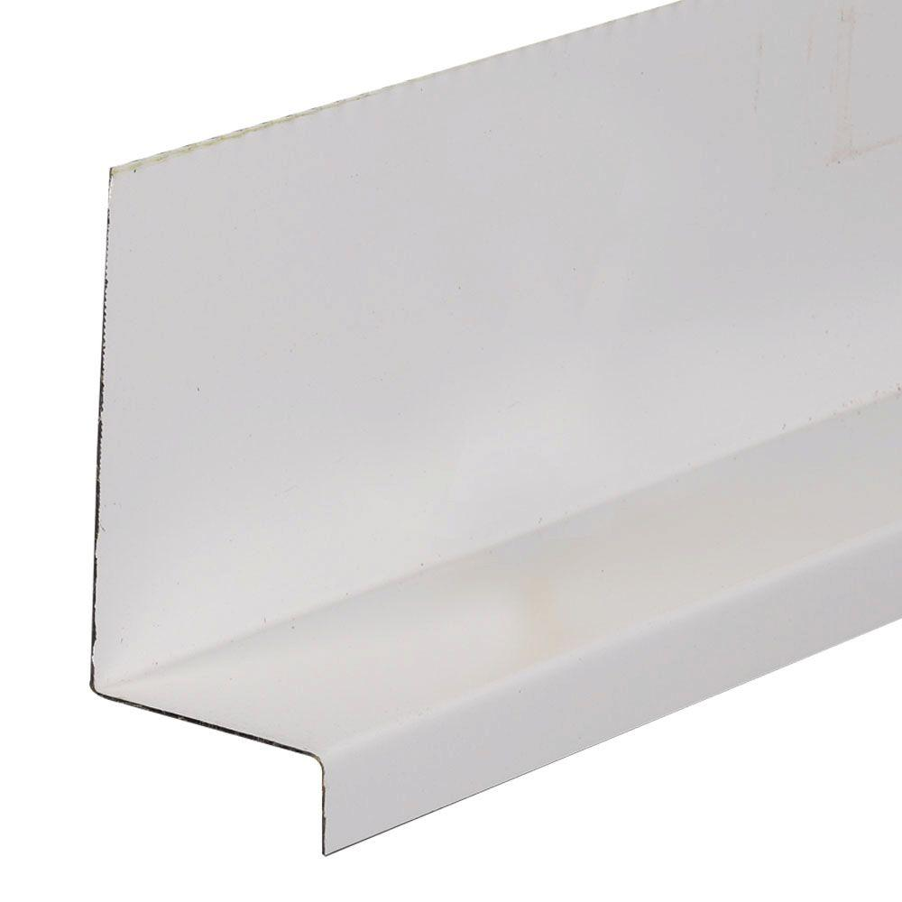 Amerimax Home Products 3 in. x 1-1/2 in. x 8 ft. White Galvanized ...