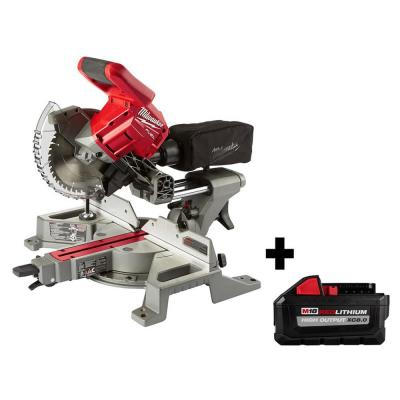 M18 FUEL 18-Volt Lithium-Ion Brushless Cordless 7-1/4 in. Dual Bevel Sliding Compound Miter Saw with 8.0 Ah Battery