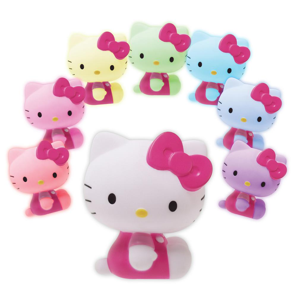Hello Kitty 4 in. Pink and White LED Mood Light