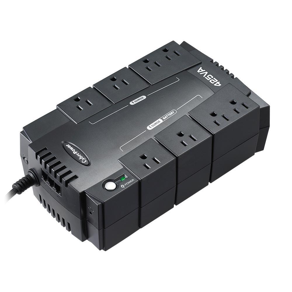 425-Volt 8-Outlet UPS Battery Backup