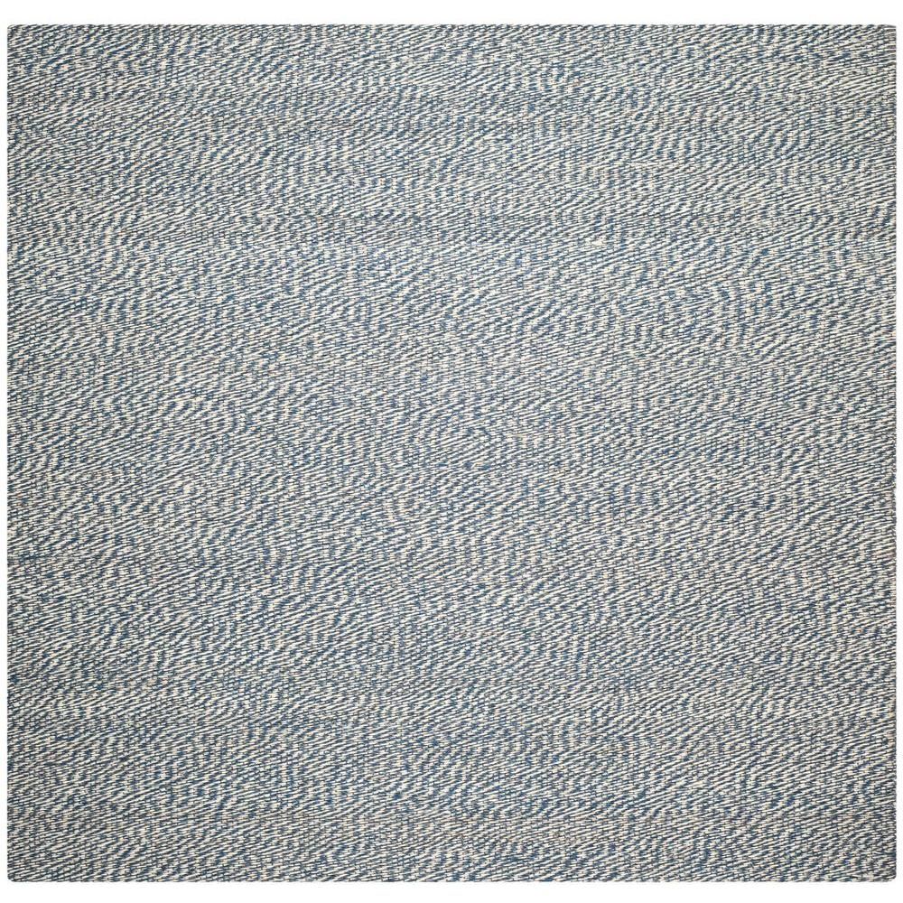Safavieh Natural Fiber Blue/Ivory 8 ft. x 8 ft. Square Ar...