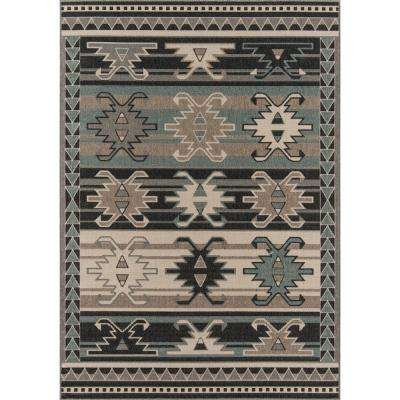 Baja Canyon Sage 6 ft. 7 in. X 9 ft. 6 in. Indoor/Outdoor Area Rug