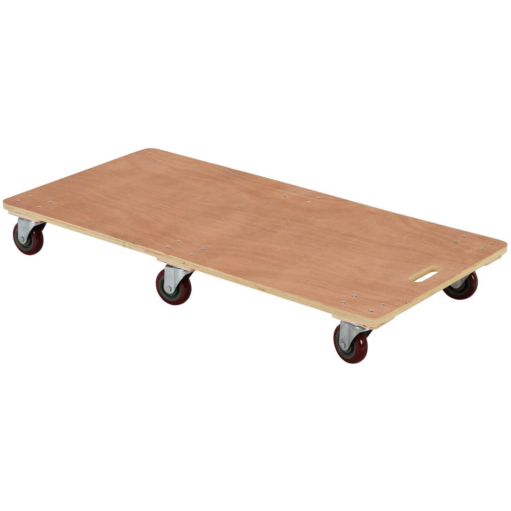 24 in. x 48 in. 1,200 lb. 6-Wheel Solid Deck Hardwood