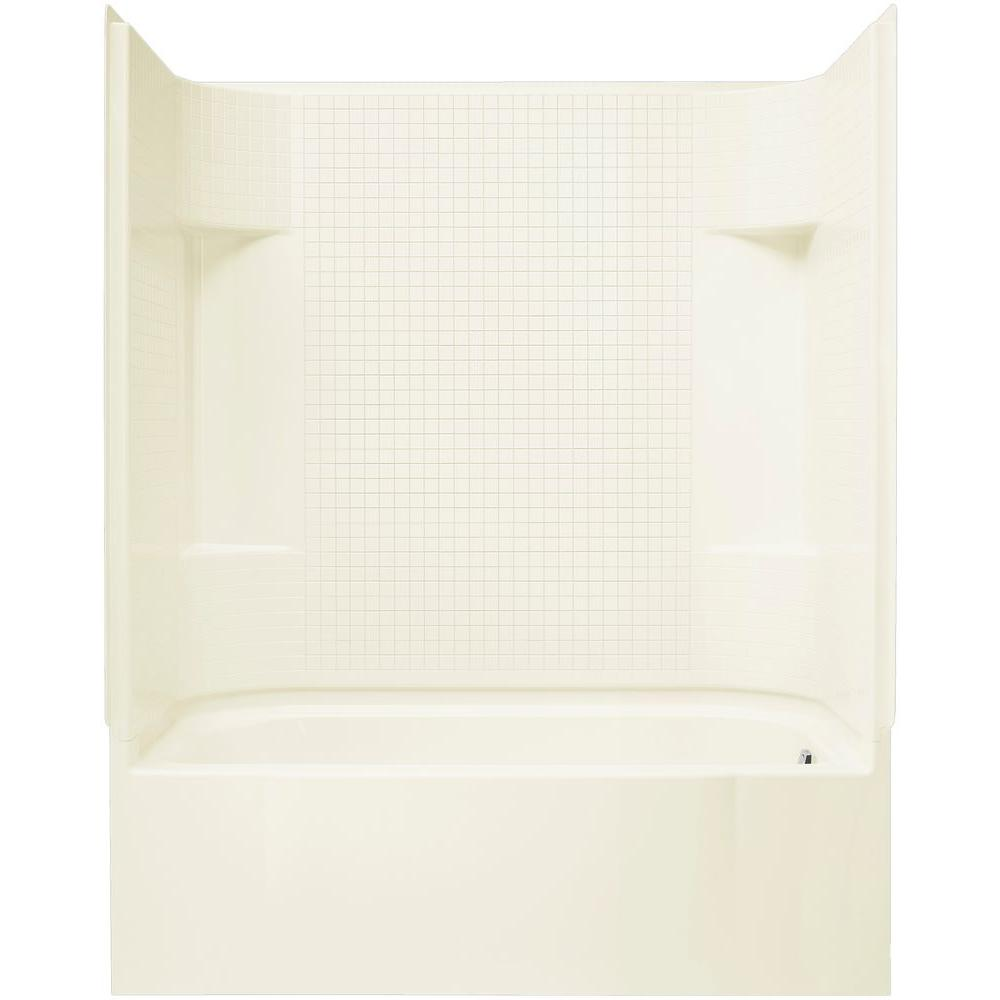 STERLING Accord 60 In X 30 72 Bath And Shower Kit With Right Hand Drain Biscuit 71140120 96