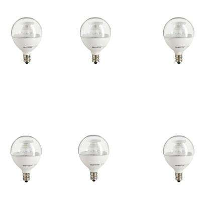 40-Watt Equivalent Clear Warm White G16.5 Dimmable LED Light Bulb (6-Pack)