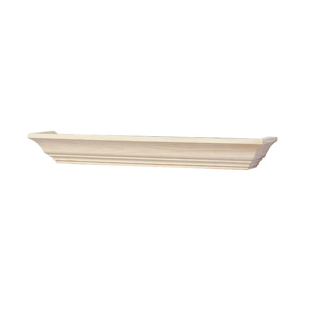 Knape & Vogt 24 in. W 5 in. D Wall Mounted Unfinished Mantel Decorative Shelf Kit
