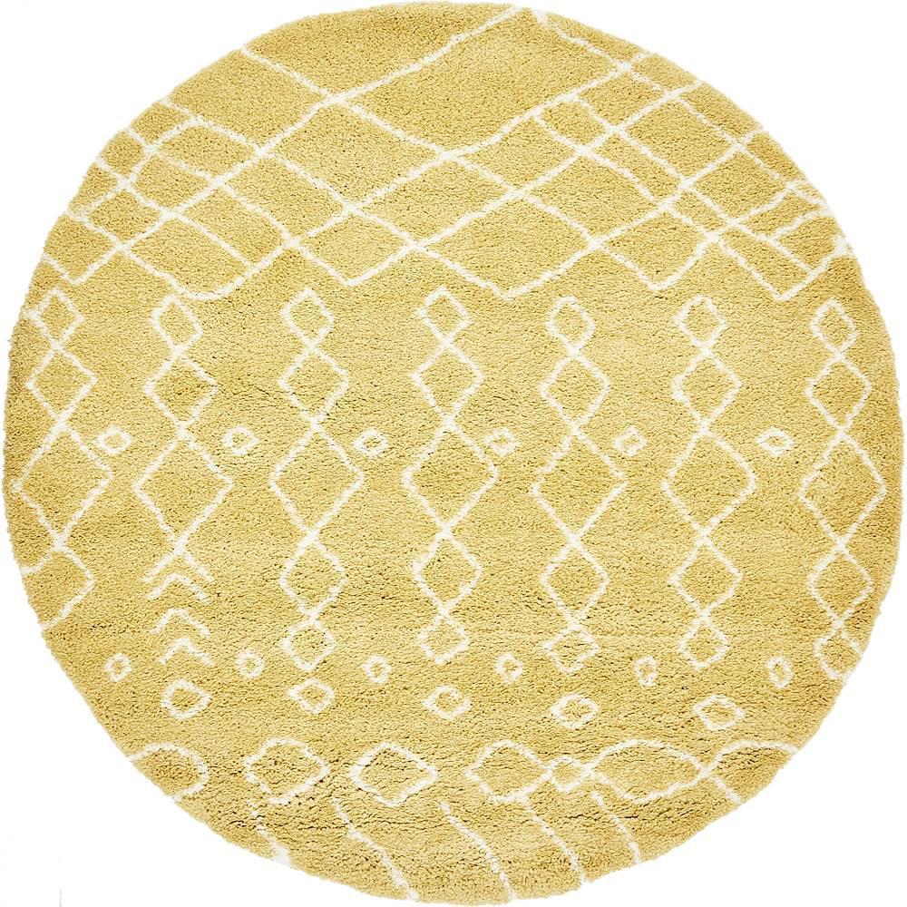 Rabat Shag Yellow 8' x 8' Round Rug
