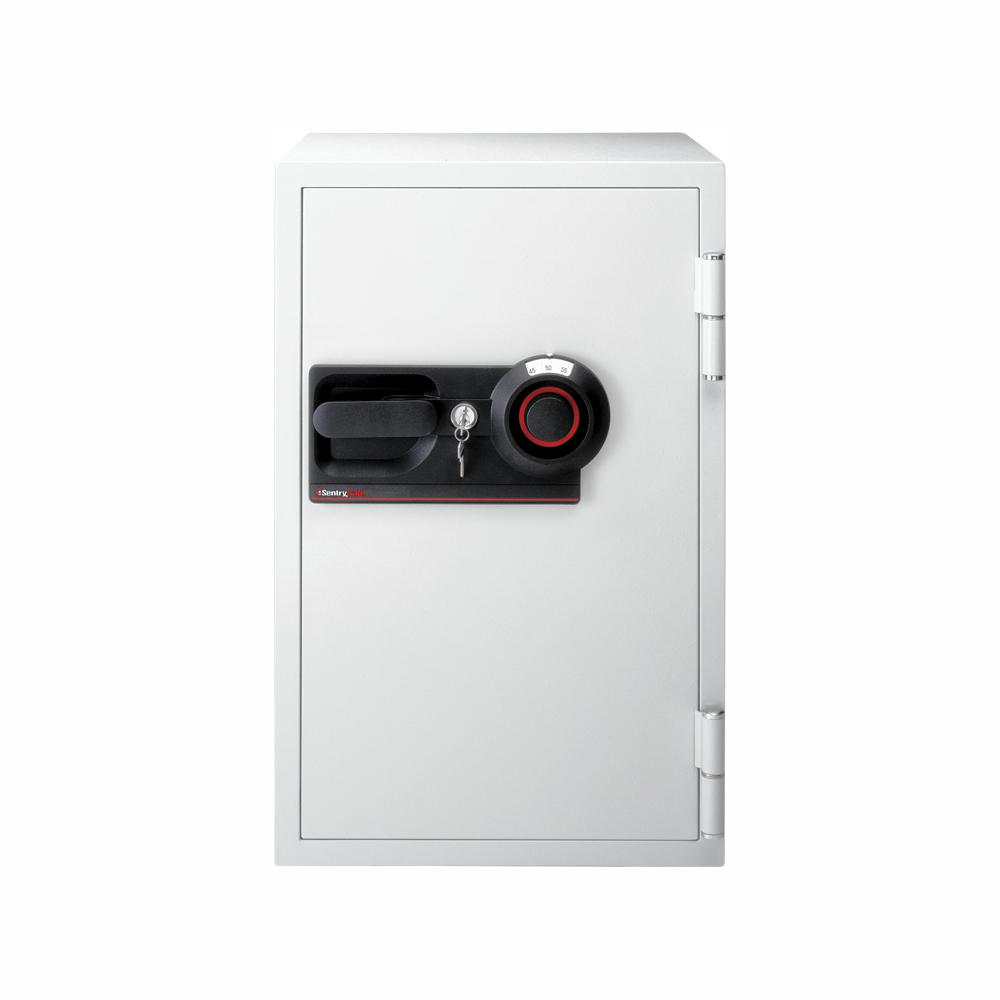 SentrySafe Commercial Safe 3 cu  ft  Fire-Safe Combination Lock with Key,  Light Gray