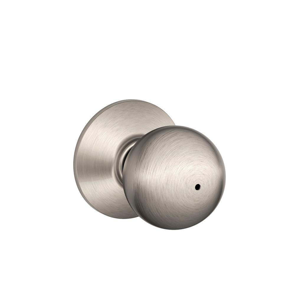 Orbit Satin Nickel Privacy Bed/Bath Door Knob