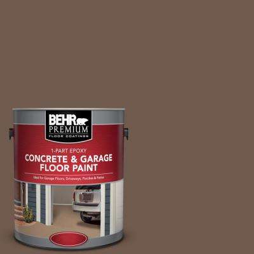1 gal. #PFC-35 Rich Brown 1-Part Epoxy Concrete and Garage Floor Paint