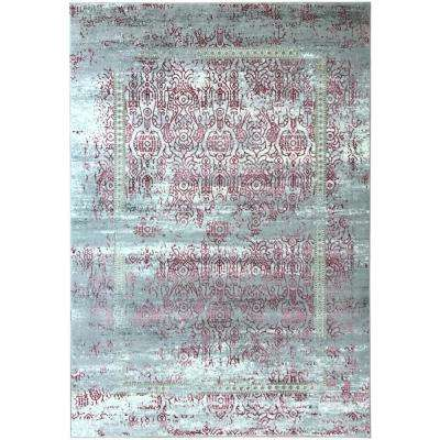Silky Gold Collection Rose Sultan 5 ft. x 8 ft. Anti-Bacterial Area Rug