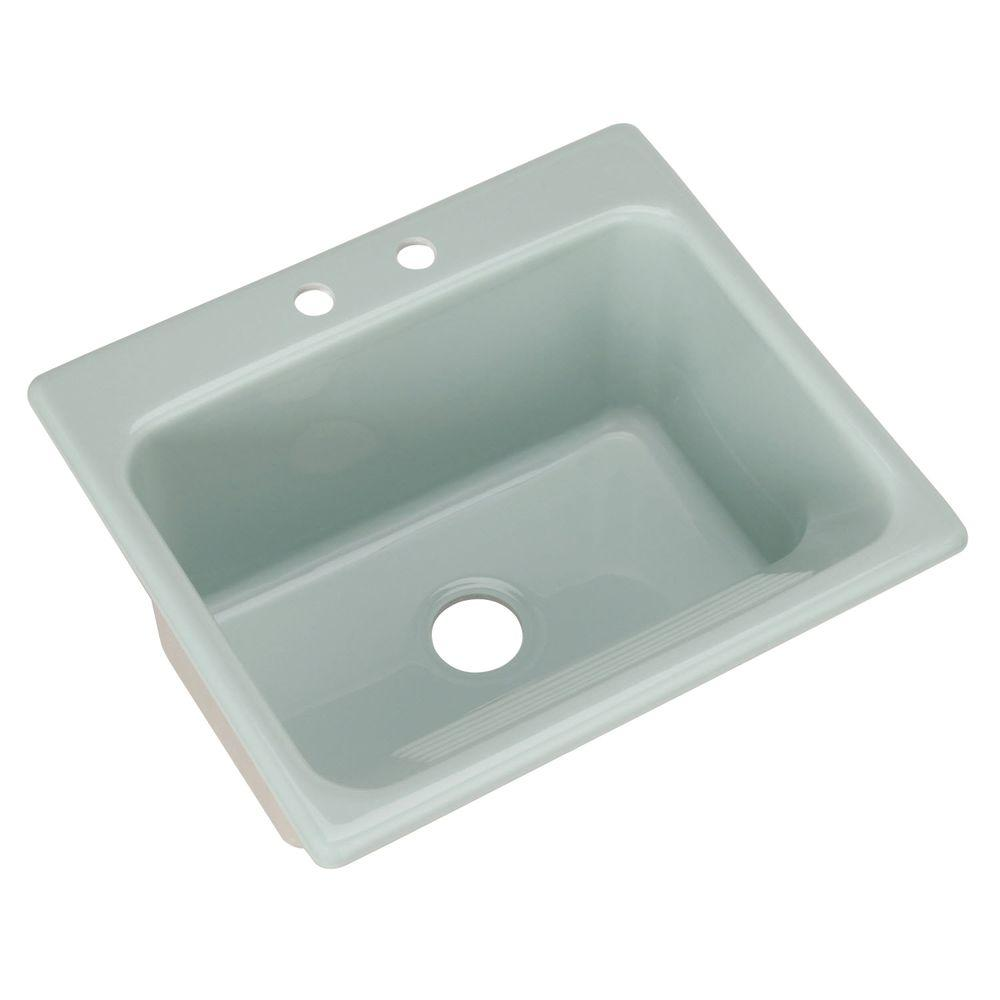 Thermocast Kensington Drop-In Acrylic 25 in. 2-Hole Singl...