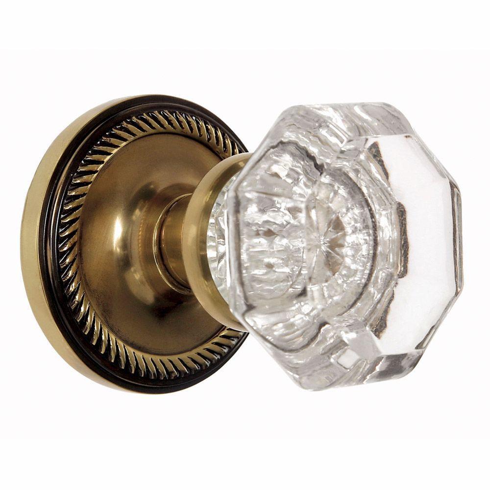 crystal door knobs home depot. antique brass waldorf crystal full dummy knob door knobs home depot