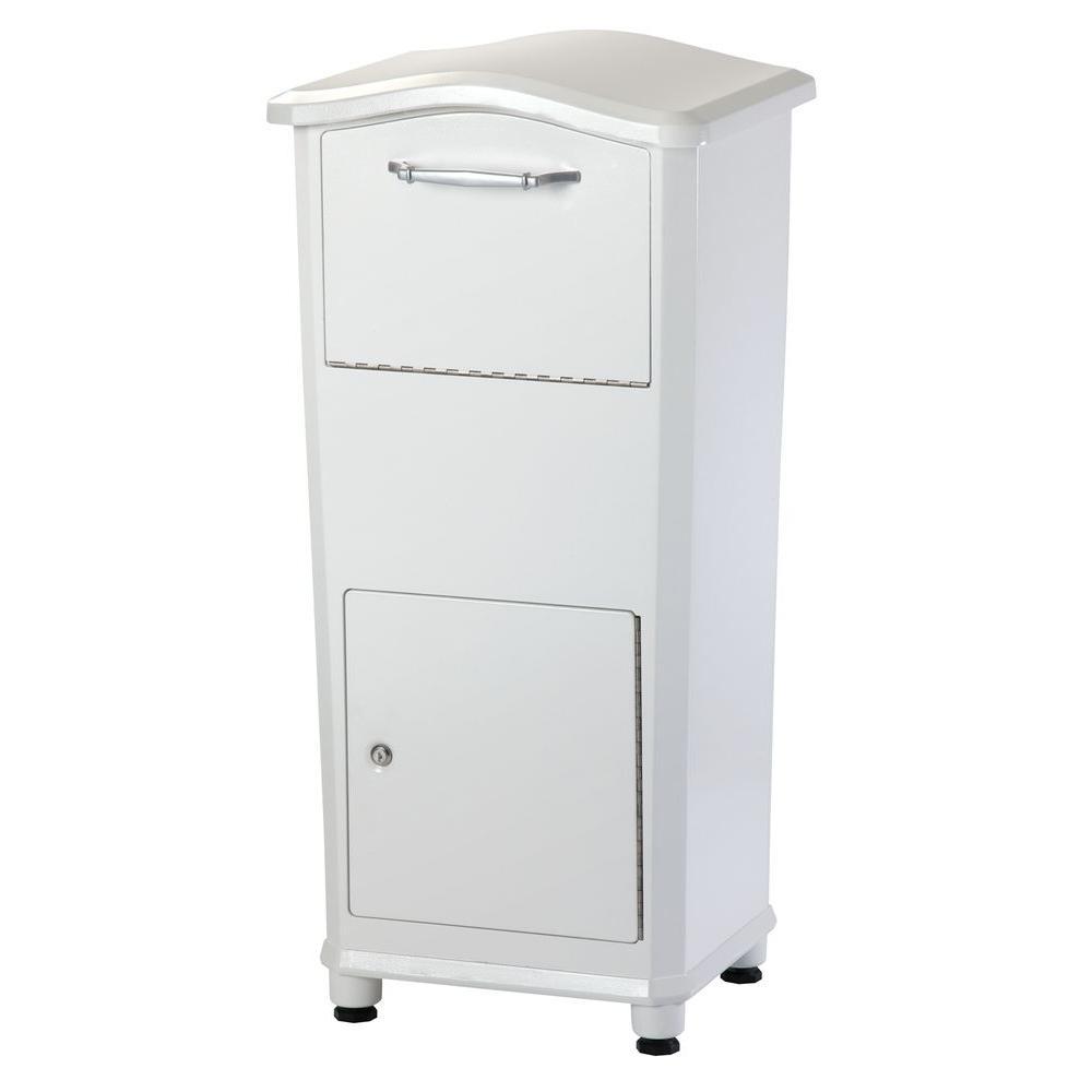 Elephantrunk Parcel Drop Box In White
